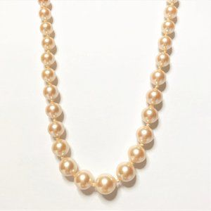 Vintage Monet Graduated Simulated Pearl Necklace